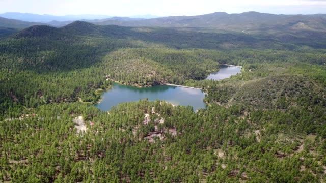 lakes surrounded by pine trees in prescott arizona - prescott arizona stock videos & royalty-free footage