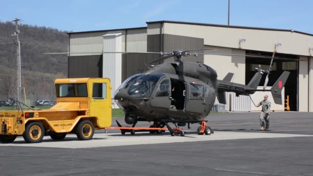lakota operated by pennsylvania army national guard takes off from the muir army airfield at fort indiantown gap annville pennsylvania - national guard stock videos and b-roll footage
