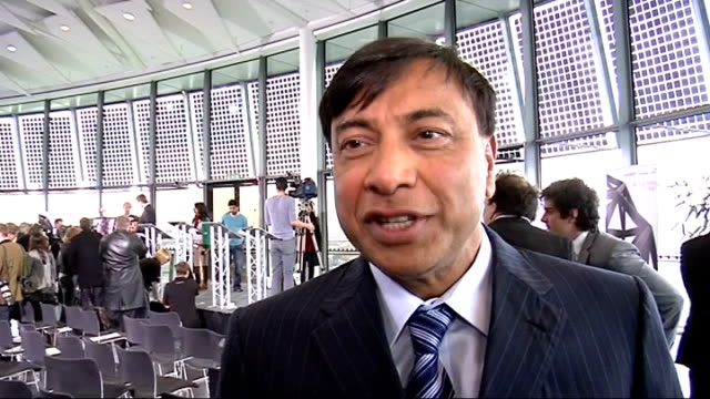 Lakshmi Mittal interview SOT On coincidence meeting Boris Model figures at foot of model tower Boris Johnson interview SOT We are getting money from...