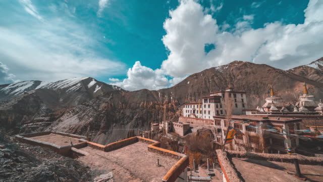 lamayuru monastery in india - monastery stock videos & royalty-free footage