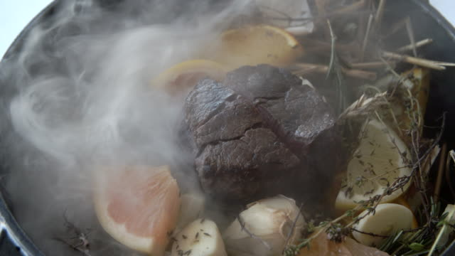Lamb hot pot with rosemary and orange / St Tropez, France