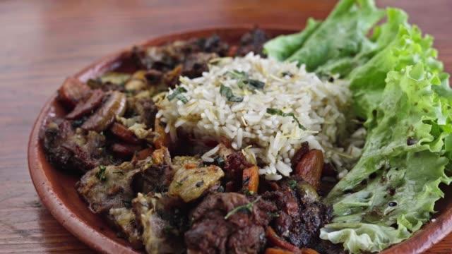 lamb tagine - rice stock videos & royalty-free footage