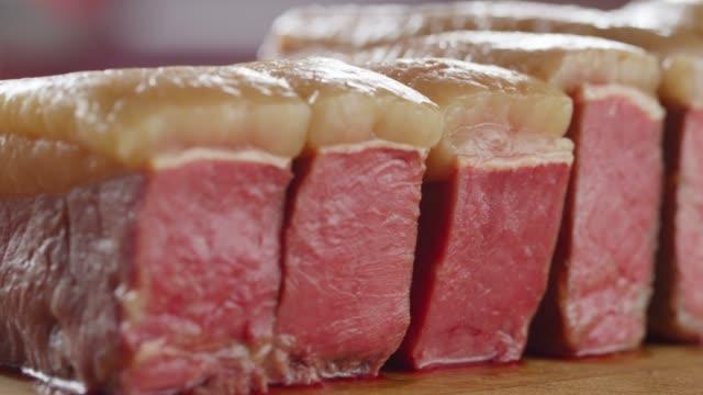 lamb tenderloin with sous-vide(low-temperature) recipe in seattle - preparing food stock videos & royalty-free footage