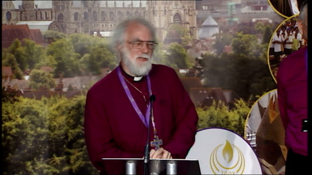 archbishop rowan williams press conference more of archbishop rowan williams question and answer session sot - lambeth stock videos & royalty-free footage