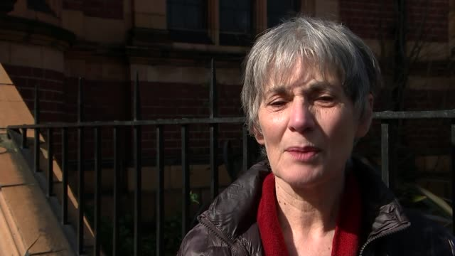lambeth council criticised over campaign advertising service cuts england london herne hill ext various shots campaigners outside carnegie library... - herne hill stock videos & royalty-free footage