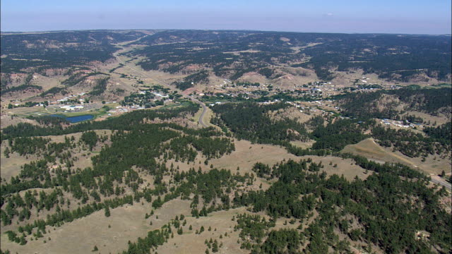 Lame Deer  - Aerial View - Montana, Rosebud County, United States