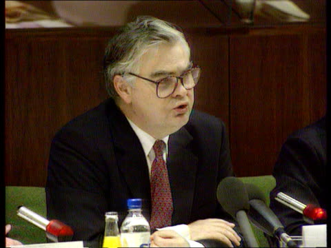 lamont plays down economic growth policy expectation nat strasbourg cms norman lamont mp arriving at european parliament track back cbv lamont along... - mep stock-videos und b-roll-filmmaterial