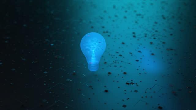 vídeos de stock, filmes e b-roll de lâmpada, conceito de ideias - electric lamp