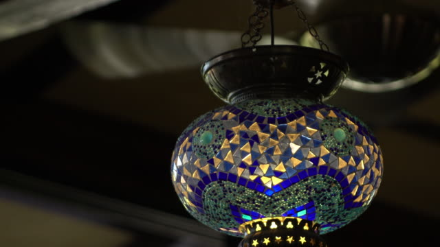 lamp light decoration - lamp shade stock videos and b-roll footage