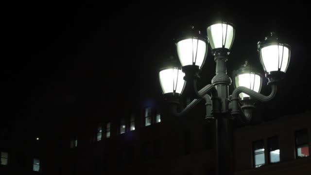 Lamp post, at night