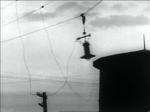 b/w 1936 lamp wires blowing in wind - 1936 stock videos and b-roll footage