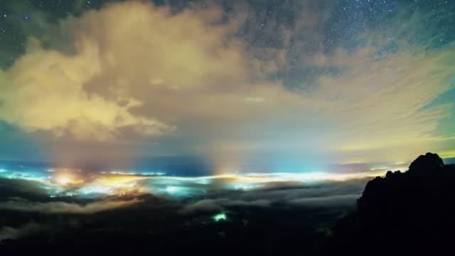 Lampang Time lapse at night, Lampang Thailand