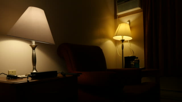 lamps in a room pan - lamp shade stock videos & royalty-free footage