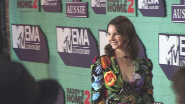 lana del rey at mtv ema awards at the sse arena, wembley on november 12, 2017 in london, england. - mtv europe music awards stock videos & royalty-free footage