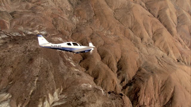 AIR TO AIR, MS, Lancair flying over Mojave Desert, California, USA