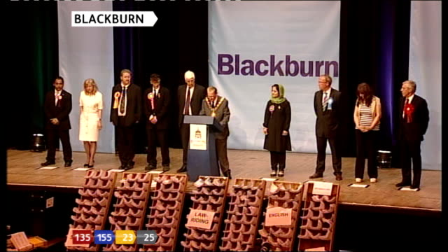 Blackburn BLACKBURN DECLARATION LABOUR PARTY HOLD SEAT JACK STRAW **flash photography**
