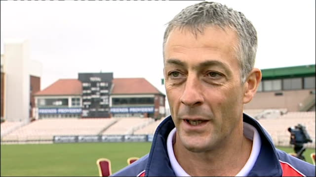 press day mahmood speaking to press mike watkinson interview sot on state of squad and trip to dubai / on plans for county season / on flintoff and... - cricket team stock videos & royalty-free footage