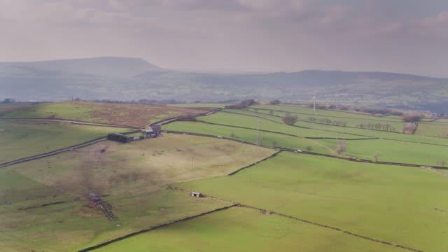lancashire scenery - drone shot - lancashire stock videos and b-roll footage