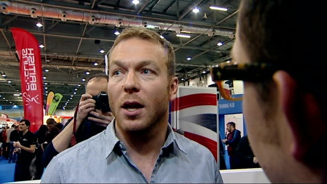lance armstrong admits to doping in television interview england sir chris hoy interview sot that's one man that's not the whole sport/ the huge... - 全部点の映像素材/bロール