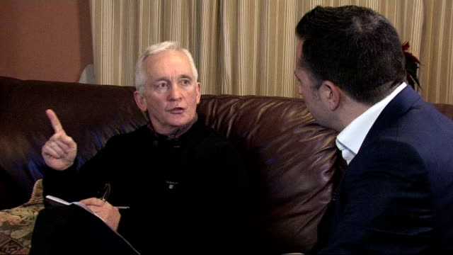 lance armstrong admits to doping in television interview england david walsh interview sot - ランス・アームストロング点の映像素材/bロール