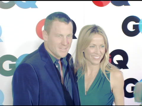 lance armstrong and sheryl crow at the gq's 2005 'men of the year' celebration at mr chow beverly hills in beverly hills california on december 2 2005 - sheryl crow stock videos & royalty-free footage