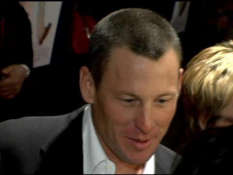 lance armstrong at the 'failure to launch' new york premiere at chelsea west in new york, new york on march 8, 2006. - failure to launch stock videos & royalty-free footage