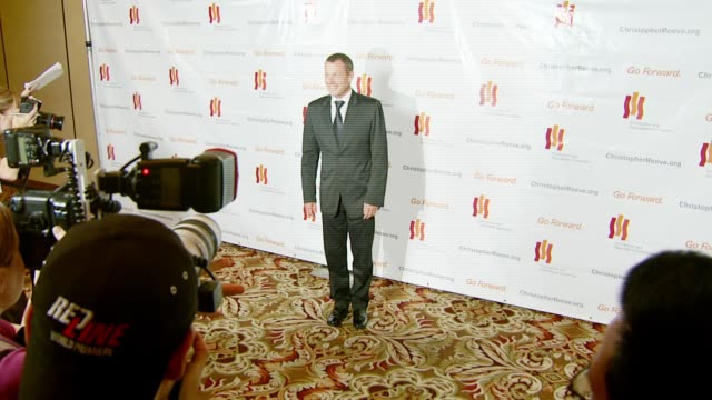 lance armstrong at the third annual los angeles gala for the christopher and dana reeve foundation honoring robin williams at the century plaza hotel... - christopher and dana reeve foundation stock videos and b-roll footage