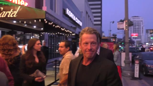 lance armstrong dodges questions about bryan colangelo outside the babes for boobs at el rey theatre in hollywood in celebrity sightings in los... - ランス・アームストロング点の映像素材/bロール