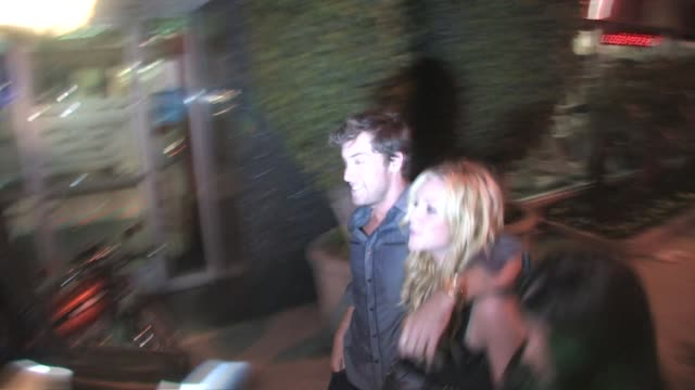 lance bass and brittany snow at trousdale in west hollywood 03/15/11 at the celebrity sightings in los angeles at los angeles ca - lance bass stock videos and b-roll footage