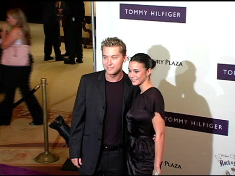 lance bass and guest at the 12th annual race to erase ms themed rock and royalty to erase ms at the westin century plaza hotel in century city... - lance bass stock videos and b-roll footage