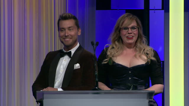 speech lance bass and kirsten vangsness at 7th annual thirst gala at the beverly hilton hotel on june 13 2016 in beverly hills california - lance bass stock videos and b-roll footage