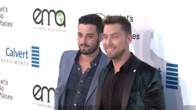 lance bass and michael turchin at the 26th annual environmental media association awards at warner bros. studios on october 22, 2016 in burbank,... - environmental media awards stock videos & royalty-free footage