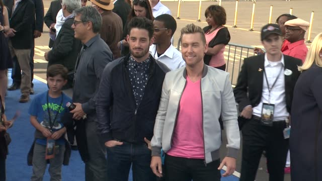 lance bass and michael turchin at the tomorrowland los angeles premiere at amc downtown disney 12 theater on may 09 2015 in anaheim california - anaheim california stock videos and b-roll footage