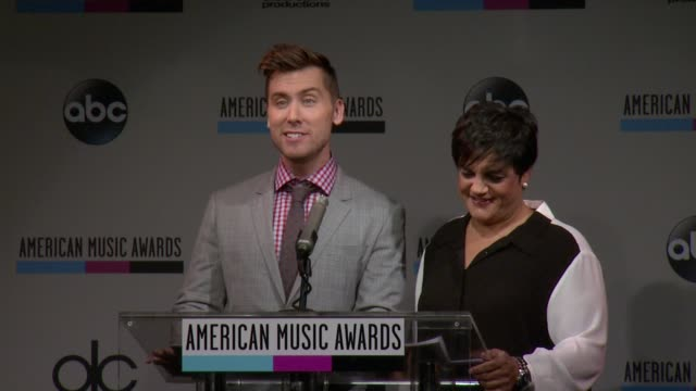 speech lance bass announces that he will be cohosting the ama's cocacola live with rosie pierri 2013 american music awards nominations press... - 2013 american music awards stock videos & royalty-free footage