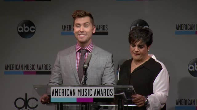 speech lance bass announces the ama's and twitter collaboration to debut the first ever 360 fashion booth at the 2013 american music awards... - 2013 american music awards stock videos & royalty-free footage