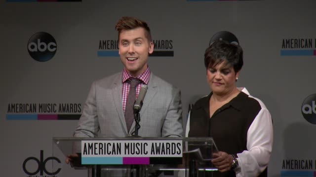 speech lance bass announces where real time coverage for the show will be available at the 2013 american music awards nominations press conference at... - 2013 american music awards stock videos & royalty-free footage