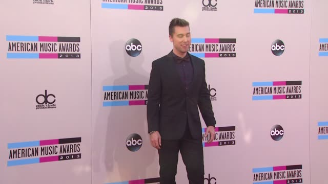 lance bass arrives at the 2013 american music awards arrivals - lance bass stock videos and b-roll footage