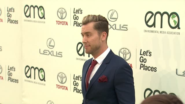 lance bass at 25th annual environmental media awards in los angeles ca - lance bass stock videos and b-roll footage