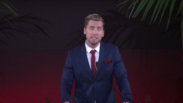 lance bass at 25th annual environmental media awards in los angeles, ca 10/24/15 - environmental media awards stock videos & royalty-free footage