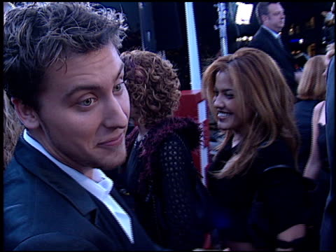 lance bass at the 2002 people's choice awards at pasadena civic auditorium in pasadena california on january 13 2002 - pasadena civic auditorium stock videos & royalty-free footage