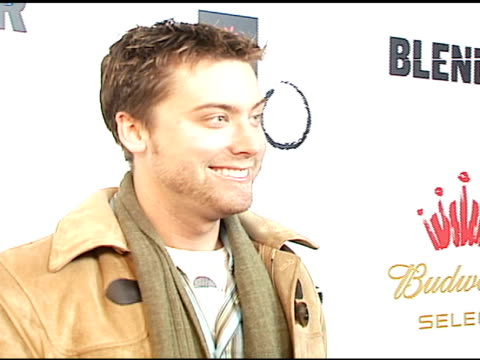 lance bass at the 2007 sundance film festival blender sessions at tao in park city utah on january 22 2007 - lance bass stock videos and b-roll footage