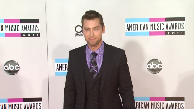 lance bass at the 2011 american music awards arrivals at los angeles ca - lance bass stock videos and b-roll footage