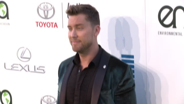 lance bass at the 26th annual environmental media association awards at warner bros studios on october 22 2016 in burbank california - lance bass stock videos and b-roll footage