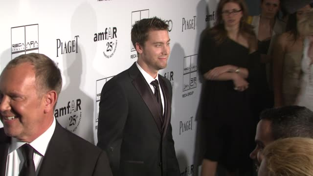lance bass at the 2nd annual amfar inspiration gala new york arrivals at new york ny - lance bass stock videos and b-roll footage