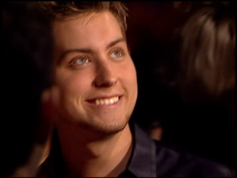 lance bass at the bmg grammy awards party at miracle mile wilshire in los angeles california on february 21 2001 - miracle stock videos & royalty-free footage