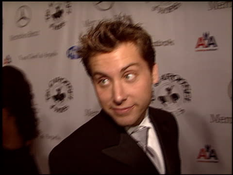 lance bass at the carousel of hope gala at the beverly hilton in beverly hills california on october 23 2004 - lance bass stock videos and b-roll footage
