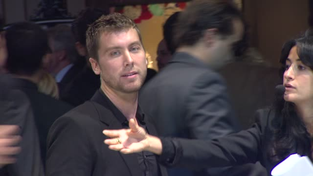 lance bass at the jaguar land rover unveil of the new xkrs convertible at beverly hills ca - lance bass stock videos and b-roll footage