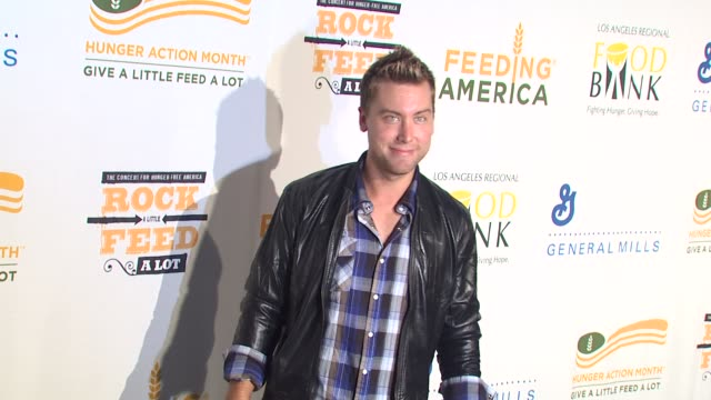 lance bass at the 'rock a little, feed a lot' benefit concert at los angeles ca. - benefit concert stock videos & royalty-free footage