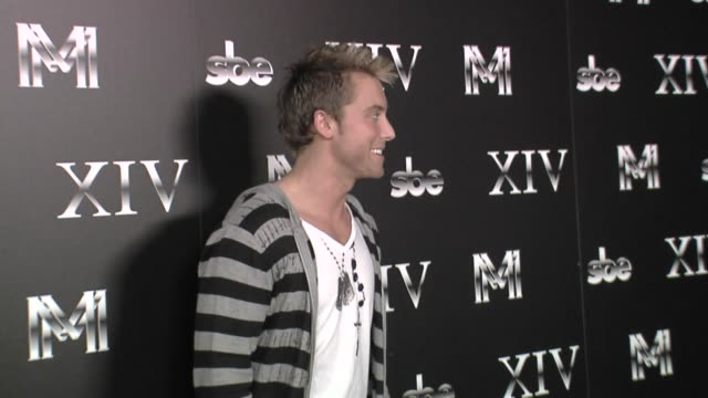 lance bass at the sbe announces the grand opening of xiv at los angeles ca - lance bass stock videos and b-roll footage