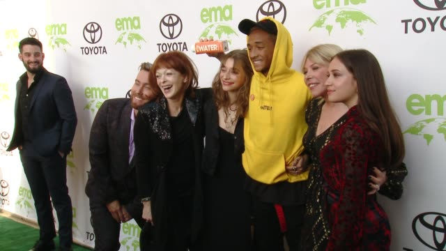 lance bass francis fisher odessa adlon jaden smith debbie levin rockie adlon at the 28th annual environmental media awards in los angeles ca - environmental media awards stock videos & royalty-free footage